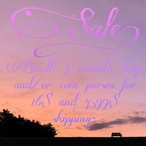 Sale! Bundle 3 cosmetic bags/coin purses